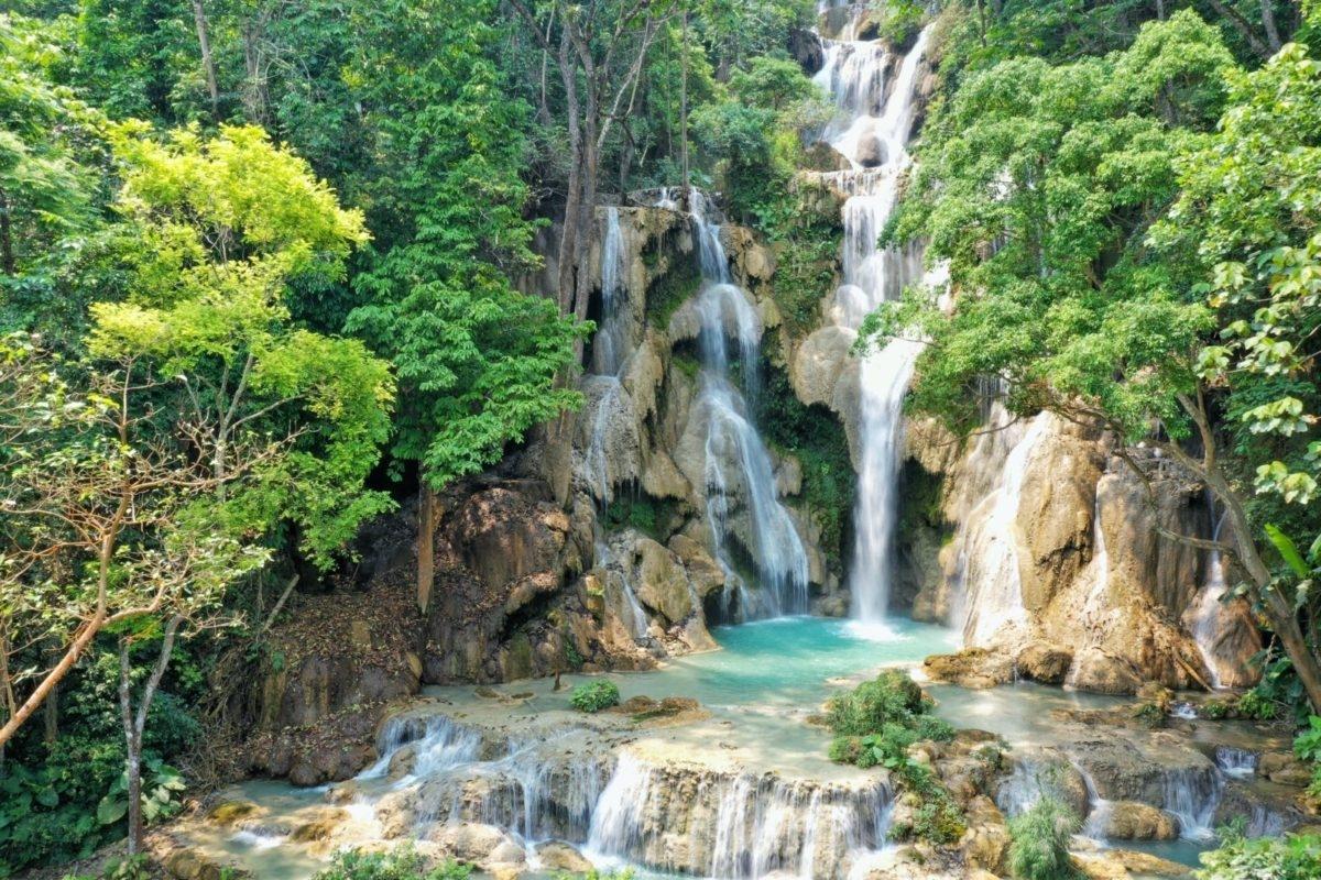 ルアンパバーン クアンシーの滝(LAOS)